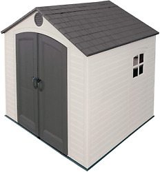 6411 Outdoor Storage Shed With Window 8 By 7.5 Feetputty/brown