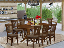 East West Furniture 9 Pc Dining Room Set For 8 Dining Table With Leaf And 8 Dini