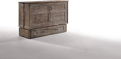 Night And Day Furniture Poppy White Bark With Mattress Murphy Cabinet Bed Queen