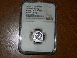 2015-p March Of Dimes Set Silver Ngc Pf69 Reverse Proof Roosevelt Dime 10c
