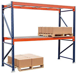 Storage-pro Pallet Rack Starter Unit With Wire Decking, Industrial Shelving For