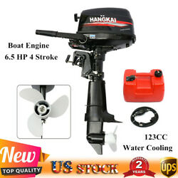 6.5 Hp 4 Stroke Marine Boat Engine Outboard Motor Water Cooling Cdi System 123cc