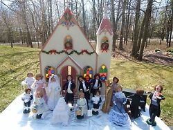Byers Choice Carolers Lot Of 20 Wedding Bride Groom Party Band Church Cake
