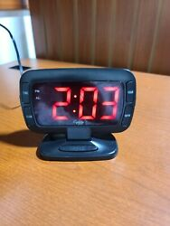 Equity Alarm Clock Red Numbers 30016