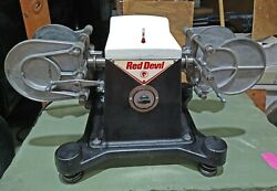 Vintage Red Devil 5100 Dual Arm Paint Conditioner Shaker Restored Exc Cond
