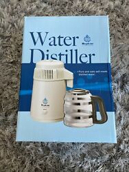 Megahome Mh943sws Water Distiller Silver And White W/ Glass Collector | Read Desc