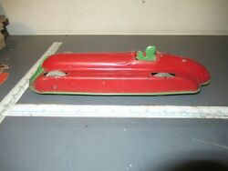 Antique Chime Wind Up Racer Car Tin Toy Made In Canada