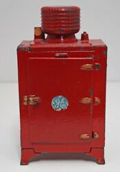 Antique General Electric Monitor Top Refrigerator Hubley Cast Iron Toy 1930's