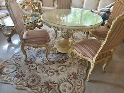 Silik Italy Original Silik Baroque Style Dining Room Table And 4 Chairs S6.5
