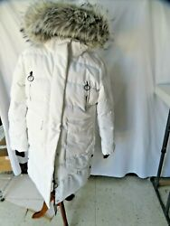 Size 2x Womenand039s Parka With Detachable Big Fur Hood Padded Jackets