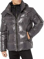 S13 Quilted Down Hooded Puffer Jacket Msrp 360 Size Xl Xxl 6c 1649 New
