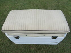 Vintage Boston Whaler Montauk Cooler Seat Cushion And Newer Igloo Coolermint