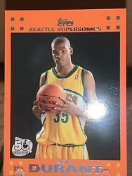 2007-08 Topps Kevin Durant 2 Orange Rookie Rc