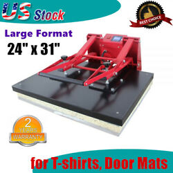 110v Clamshell Large Format T-shirts Sublimation Heat Press Machine 24 X 31