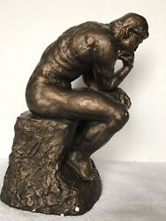 Sculpture Of The Thinking Man Austin Productions Rare 11 Statue 1963