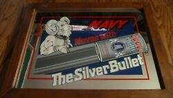 Coors Light Beer Sign Vintage Non Motion Mirror Navy Silver Bullet