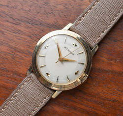 Vintage Wittnauer Manual Wind 10k Gold Filled Stepped Case Manual Wind Watch