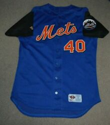 Vtg St Lucie Mets Game Worn Used Jersey Sz 46