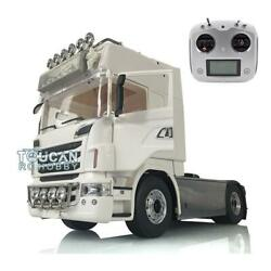 Lesu 1/14 4x4 Metal Chassis Light Rack Hercules Cabin Tractor Truck For Scania
