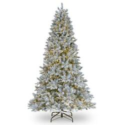 9 Ft. Feel Real Iceland Fir Hinged Tree With 4500 Led Dual Color Cosmic Lights