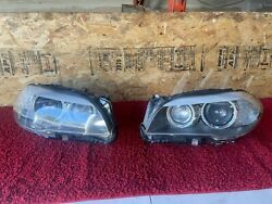 Bmw 11-13 F10 Left And Right Side Headlight Bi Xenon Adaptive Assembly Oem 108k