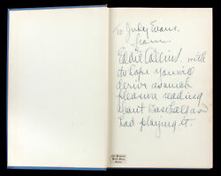 Eddie Collins Boldly Handwritten Signed 1949 The Story Of Baseball Book