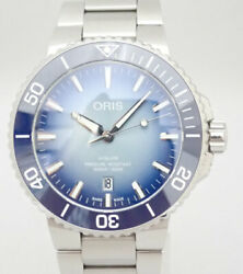 Oris Aquis Date Lake Baikal Limited 01 733 7730 4175 Automatic From Japan Y1027