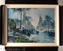 Chiang Untitled Original Oil Painting On Canvas Custom Framed Submit Your Offer