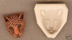 Leopard Cat Hard Polymer Clay Push Mold 4 Altered Art or Jewelry Making 18mm