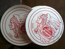 2 - 1950's Iroquois Beer Barrel Labels Or Signs Or Tray Liners Vintage Old