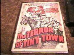 Terror Of Tiny Town A Movie Poster 1938 Rare Cult