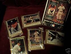 Mickey Mantle Collector Metal Cards W/ Tin Baseball Cards 1034