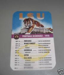 Vintage And Rare 1978 Lsu Tigers Pocket Mini Football Old Schedule