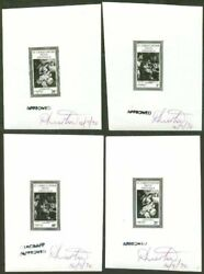 St. Kitts-nevis 1970 Christmas Holy Family Proofs