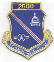 Air Force District Of Washington 2500 Hrs Patch