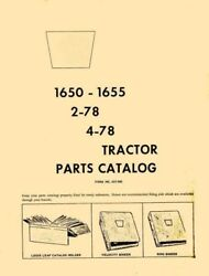 Oliver 1650 1655 2-78 4-78 Tractor Parts Catalog Manual