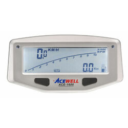 Acewell 1600 Motocycle Lcd Digital Speedometer + Lap Timing - Powered By Interna