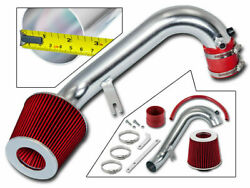 Sport Air Intake Kit + Red Cone Filter For 01-05 Civic Dx/lx/ex 1.7l L4