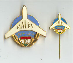 Malev Hungarian Airlines Badge And Pin Experience Of 10