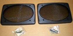 6x9 Extra Deep Speaker Grills Screens Covers, Black, 4 {four}, Auto Home Boat