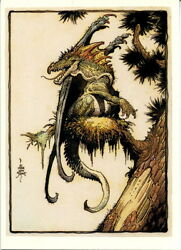 William Stout 3 Saurians And Sorcerers 1996 Comic Images Promo Card No Number