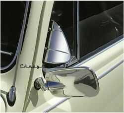 Stainless Steel Accessory Vent Wing Window Air Deflector Breeze Breezies Pair