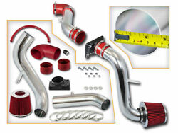 Red Cold Induction Air Intake+dry Filter For Mitsubishi 00-05 Eclipse 2.4l 3.0l