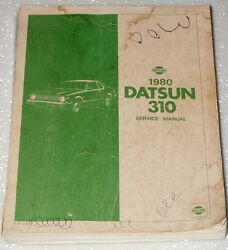 1980 DATSUN 310 COUPE HATCHBACK DELUXE GX Factory Shop Service Repair Manual N10