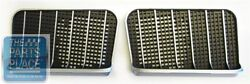 1971 Buick Gs Hood Grilles - Black Plastic With Silver Trim - Pair