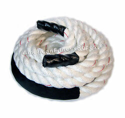 Crossfit Ropes, Pair Of 2 X 25' Polydac Fitness, Exercise And Undulation Rope