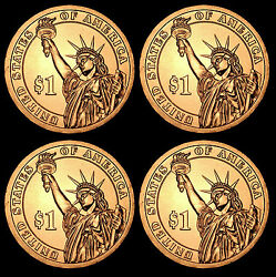 2012 P+d Grover Cleveland 22 Pos A+b From Us Mint Set Four Coins
