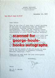 Dore Schary - Letter - Signed - 1950 - Fdr - Polio - Boys Town - Aa