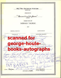 Judy Garland - Cast/crew - Signed - Presenting Lily Mars - Norman Taur0g - Mgm