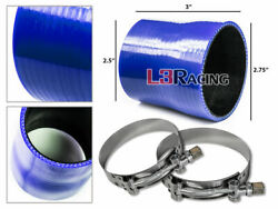 Blue 2.75-2.5 70-63mm 3-ply Silicone Reducer Hose Turbo Intake Intercooler Vw